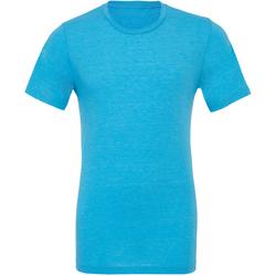 Textiel Heren T-shirts korte mouwen Bella + Canvas Triblend Aqua Triblend