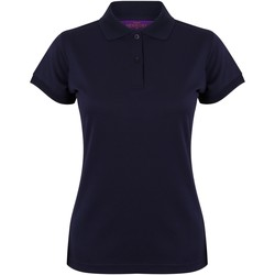 Textiel Dames Polo's korte mouwen Henbury Coolplus Marine Oxford