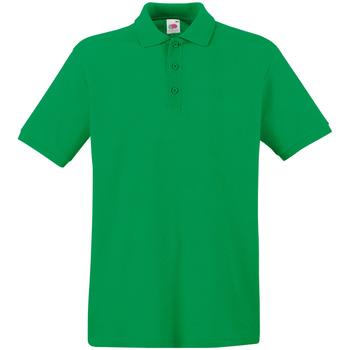 Textiel Heren Polo's korte mouwen Fruit Of The Loom Premium Kelly Groen