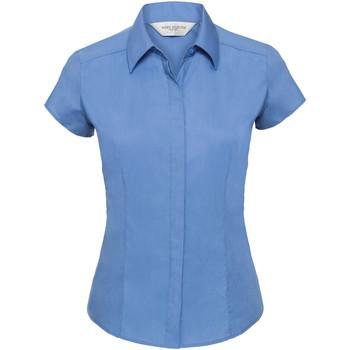 Textiel Dames Overhemden Russell 925F Bedrijfsblauw