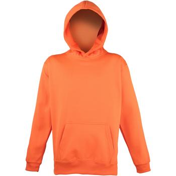 Textiel Kinderen Sweaters / Sweatshirts Awdis Hooded Elektrisch Oranje