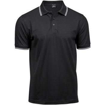 Textiel Heren Polo's korte mouwen Tee Jays Stripe Zwart/Wit