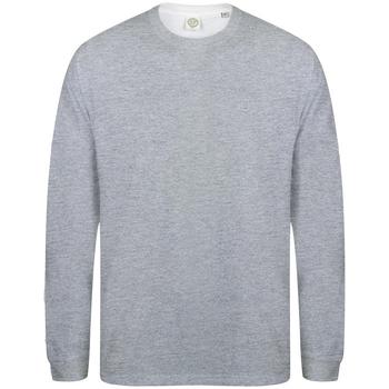 Textiel Heren T-shirts met lange mouwen Skinni Fit Slogan Heide Grijs