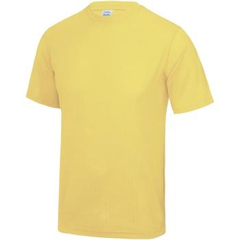 Textiel Heren T-shirts korte mouwen Just Cool Performance Sherbet Citroen
