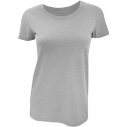 Textiel Dames T-shirts korte mouwen Bella + Canvas Triblend Grijs Triblend
