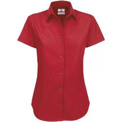 Textiel Dames Overhemden B And C SWT84 Diep Rood