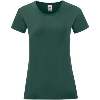 Textiel Dames T-shirts korte mouwen Fruit Of The Loom 61432 Forest