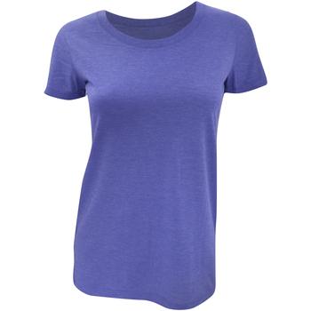 Textiel Dames T-shirts korte mouwen Bella + Canvas Triblend Blauw Triblend