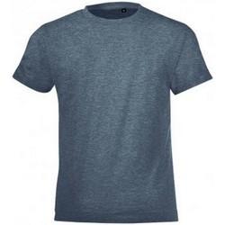 Textiel Kinderen T-shirts korte mouwen Sols Regent Heide Denim