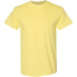 Textiel Heren T-shirts korte mouwen Gildan Heavy Maïsmelk