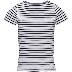 Textiel Dames T-shirts korte mouwen Asquith & Fox AQ073 Wit/Zwaar