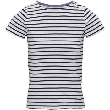 Textiel Dames T-shirts korte mouwen Asquith & Fox Mariniere Wit/Zwaar