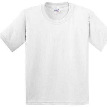 Textiel Kinderen T-shirts korte mouwen Gildan 5000B Wit