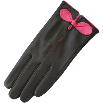 Accessoires Dames Handschoenen Eastern Counties Leather Contrast Zwart / Fuchsia