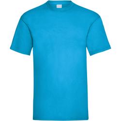 Textiel Heren T-shirts korte mouwen Universal Textiles 61036 Cyaan