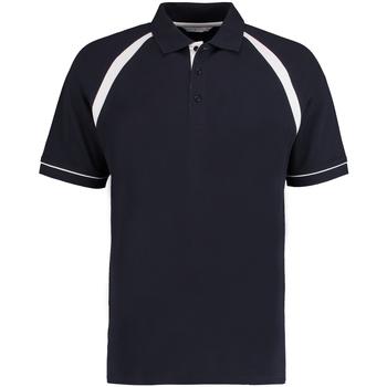 Textiel Heren Polo's korte mouwen Kustom Kit KK615 Marine / Wit
