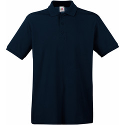 Textiel Heren Polo's korte mouwen Fruit Of The Loom Premium Donker Marine