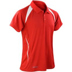 Textiel Heren Polo's korte mouwen Spiro Performance Rood/Wit