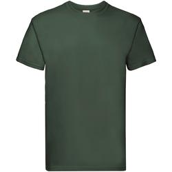 Textiel Heren T-shirts korte mouwen Fruit Of The Loom Premium Bottle Groen
