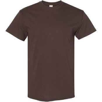 Textiel Heren T-shirts korte mouwen Gildan Heavy Donkere chocolade