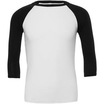 Textiel Heren T-shirts met lange mouwen Bella + Canvas Baseball Wit/zwart