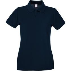 Textiel Dames Polo's korte mouwen Universal Textiles Casual Middernacht blauw