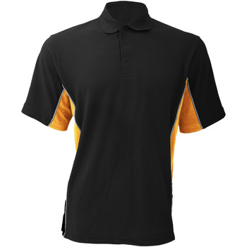 Textiel Heren Polo's korte mouwen Gamegear Pique Zwart/Oranje/Wit