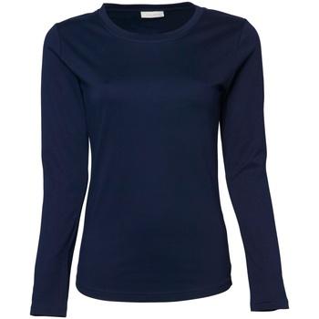 Textiel Dames T-shirts met lange mouwen Tee Jays TJ590 Marineblauw