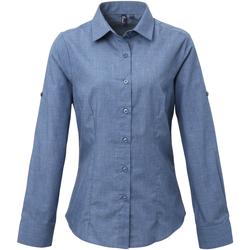 Textiel Dames Overhemden Premier Poplin Indigo Denim