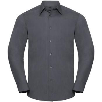 Textiel Heren Overhemden lange mouwen Russell 924M Konvooi Grijs