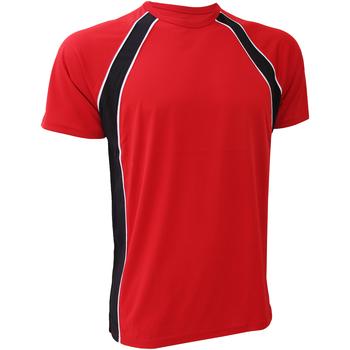 Textiel Heren T-shirts korte mouwen Finden & Hales LV250 Rood/zwart/wit