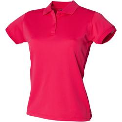 Textiel Dames Polo's korte mouwen Henbury Coolplus Helder Roze