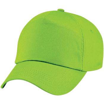 Accessoires Kinderen Pet Beechfield Baseball Kalk groen