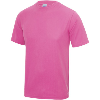 Textiel Kinderen T-shirts korte mouwen Awdis JC01J Elektrisch Roze