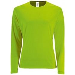 Textiel Dames T-shirts met lange mouwen Sols Performance Neon Groen