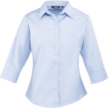 Textiel Dames Overhemden Premier Poplin Lichtblauw