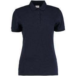 Textiel Dames Polo's korte mouwen Kustom Kit Slim Fit Marineblauw