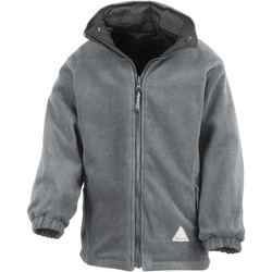 Textiel Kinderen Fleece Result R160JY Zwart/Grijs