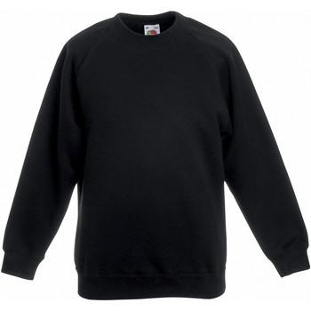 Textiel Kinderen Sweaters / Sweatshirts Fruit Of The Loom Raglan Zwart
