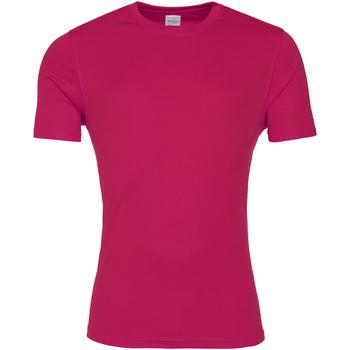 Textiel Heren T-shirts korte mouwen Awdis JC020 Heet Roze