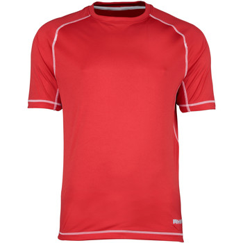 Textiel Heren T-shirts korte mouwen Rhino Performance Rood/witte stiksels