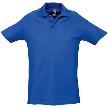Textiel Heren Polo's korte mouwen Sols Spring Koningsblauw