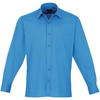 Textiel Heren Overhemden lange mouwen Premier Poplin Saffier
