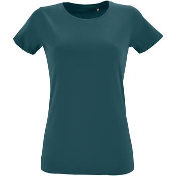 Textiel Dames T-shirts korte mouwen Sols Regent Eendenblauw