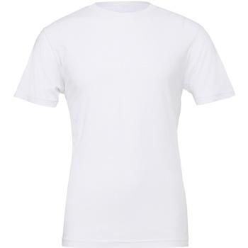 Textiel T-shirts korte mouwen Bella + Canvas Jersey Wit