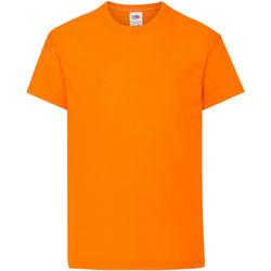 Textiel Kinderen T-shirts korte mouwen Fruit Of The Loom Original Oranje