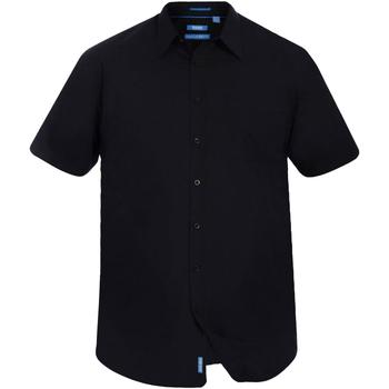 Textiel Heren Overhemden korte mouwen Duke Classic Zwart