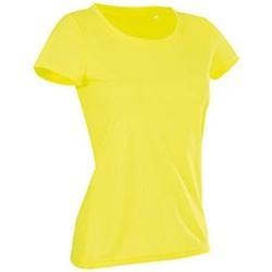 Textiel Dames T-shirts korte mouwen Stedman Cotton Touch Geel