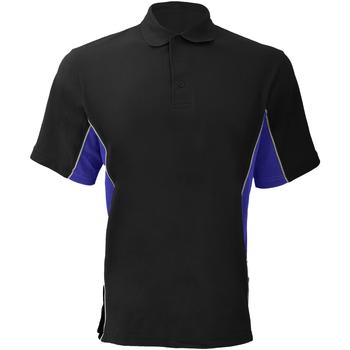 Textiel Heren Polo's korte mouwen Gamegear Pique Zwart/Royale/Wit