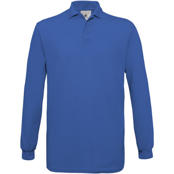 Textiel Heren Polo's lange mouwen B And C PU414 Koningsblauw